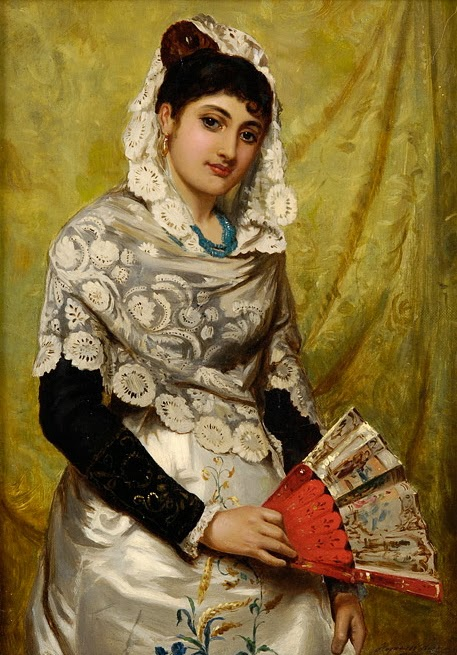 1878-John_Haynes_Spanish_Woman_with_a_fan_1878