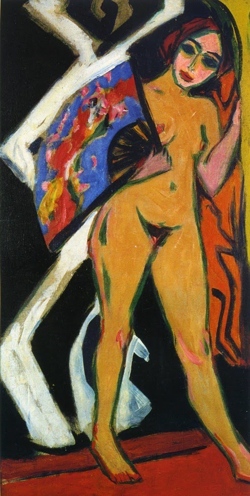 1910-kirchner-dodo-with-large-fan  Ernst Ludwig Kirchner (1910)