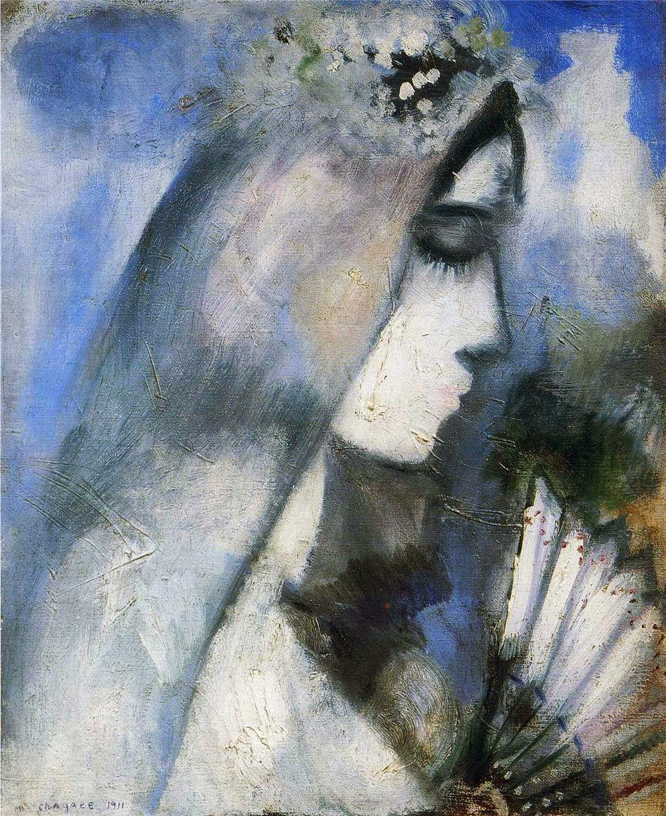1911-marc-chagall-bride-with-a-fan