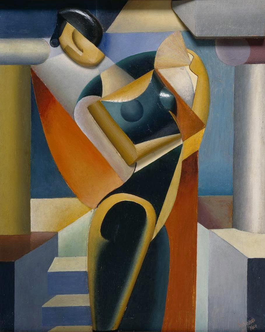1915-oleksandr-archipenko-woman-with-a-fan-ii