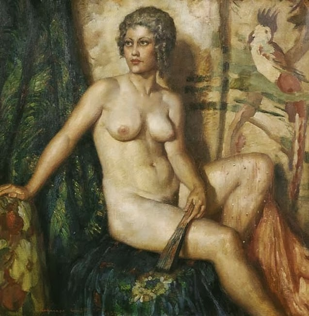 1935un-norman lindsay-rose-with-fan