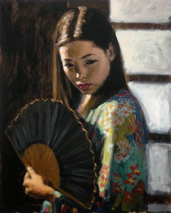 2010ca-fabian-perez-japonese-woman-with-fan  Fabian Perez (ca. 2010)