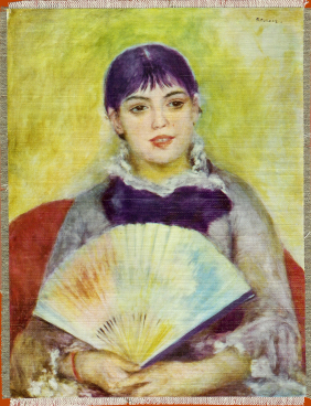 August Renoir girl with fan