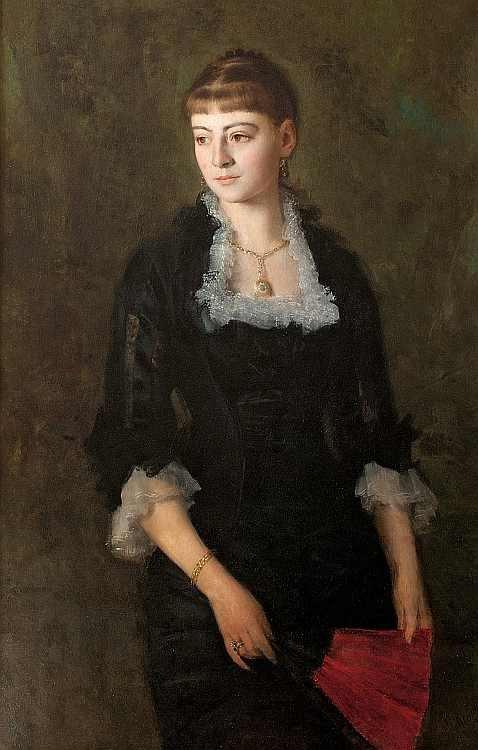 Henryk Rodakowski Dziewczyna-z-wachlarzem