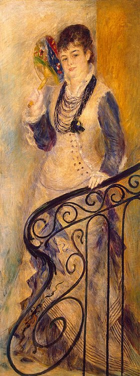 Pierre-Auguste Renoir. Woman on a Stair