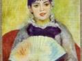 August Renoir girl with fan