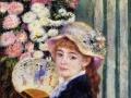 Pierre-Auguste Renoir Girl with fan