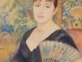 Pierre-Auguste Renoir Woman with Fan (1886)