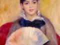 Pierre-Auguste Renoir. Girl with aFan