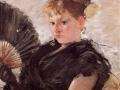 Woman with aFan - Berthe Morisot