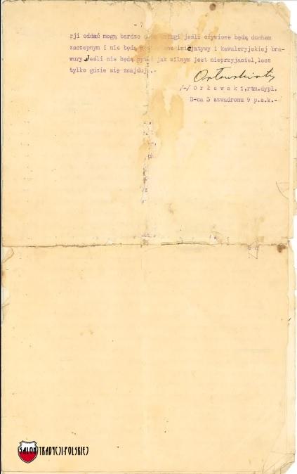 Stefan Orlowski wspomnienie 1914 ostatnia str