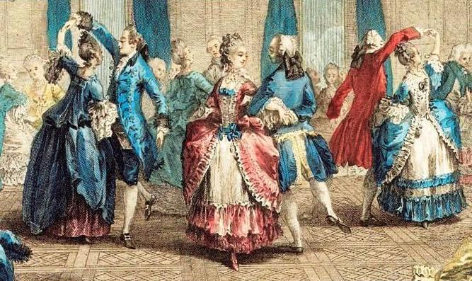 XVIII w.tance francuskie menuet ianglez