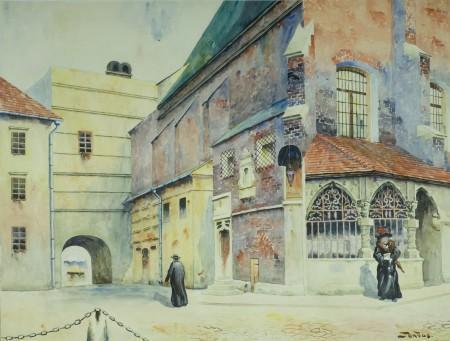St. Tondos widok na k.sw.Barbary w Krakowie