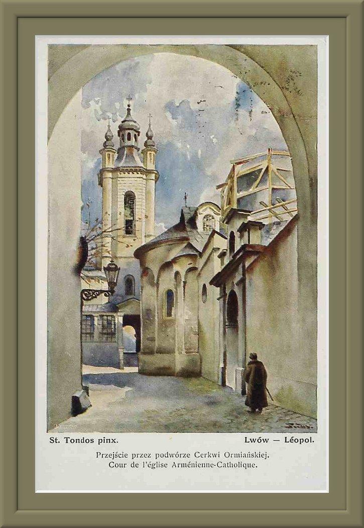 St.ondos-Lwów-Przejście-przez-podworzec-Cerkwi-Ormiańskiej