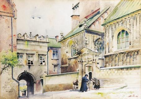 Tondos W.Kossak wejscie do katedry wawelskiej