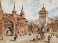 St. Tondos, W. Kossak Barbakan i brama Florianska w Krakowie