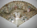 Antique Fan Carved Mother Of Pearl 1800's