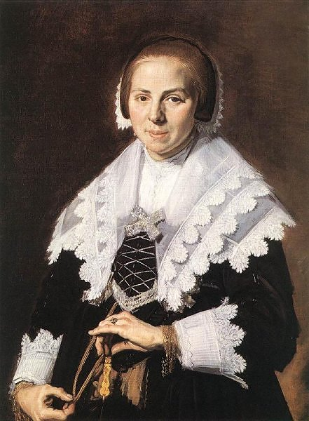 A Woman holding afan , ca. 1640 byu Frans Halls