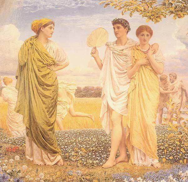 Albert Joseph Moore The loves of the winds and the seasons, 1890-1893