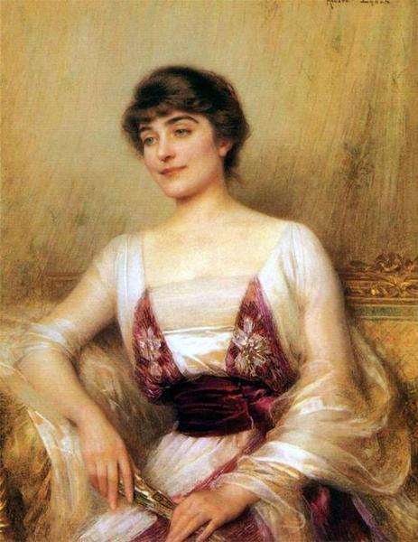 Albert Lynch, Portrait of a Countess (Lady with a Fan