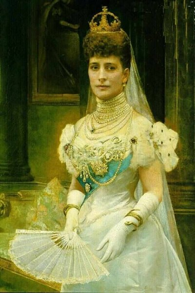 Alexandra, Princess of Gals nee Princess of Denmark , ca. 1899, 1900