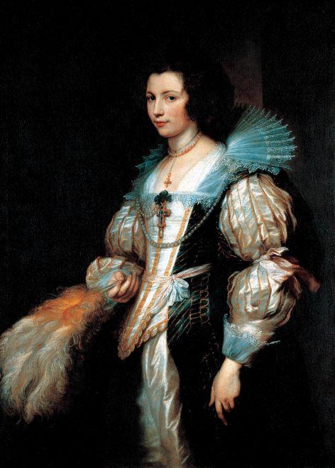Anthony van Dyck Portrait of Maria de Tassis, c. 1629-30