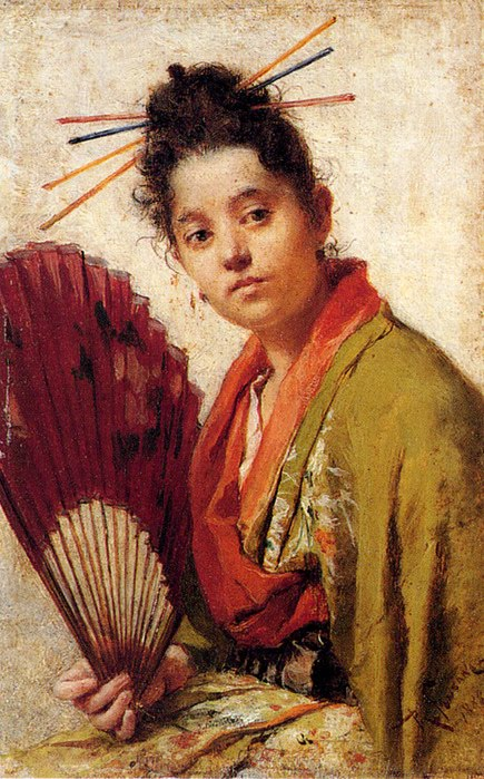 Fontano_Roberto_A_Young_Girl_Holding_A_Fan