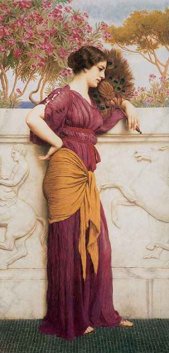 Godward_The_Peacock_Fan_1912