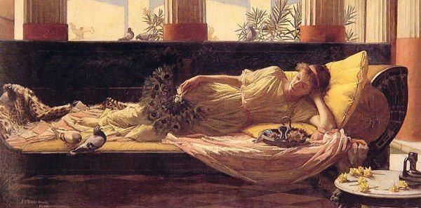 John William Waterhouse Sweet nothings, 1880