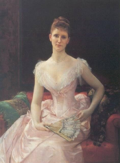 Portrait Of Young Lady, by Cabanel, ca. 1889