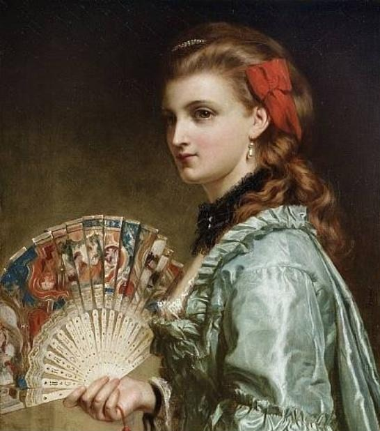 Portrait of a Lady, by Dicksee
