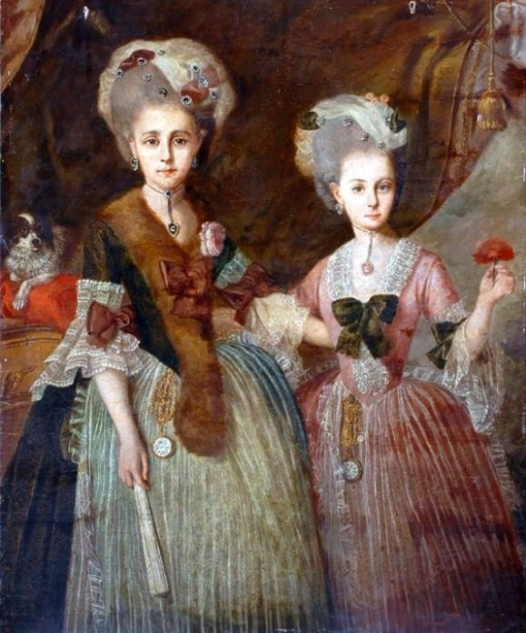 Unknow ladies with fan, Bowes Museum