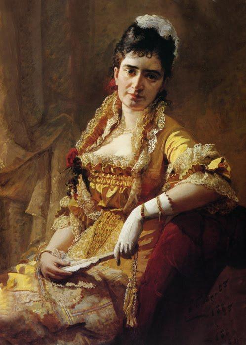 Viktor Bobrov. Portrait of singer Lavrovskaya, 1881