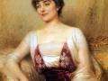 Albert Lynch, Portrait of aCountess (Lady with aFan