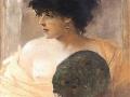 Franciszek Zmurko-Kobieta z wachlarzem- 1885