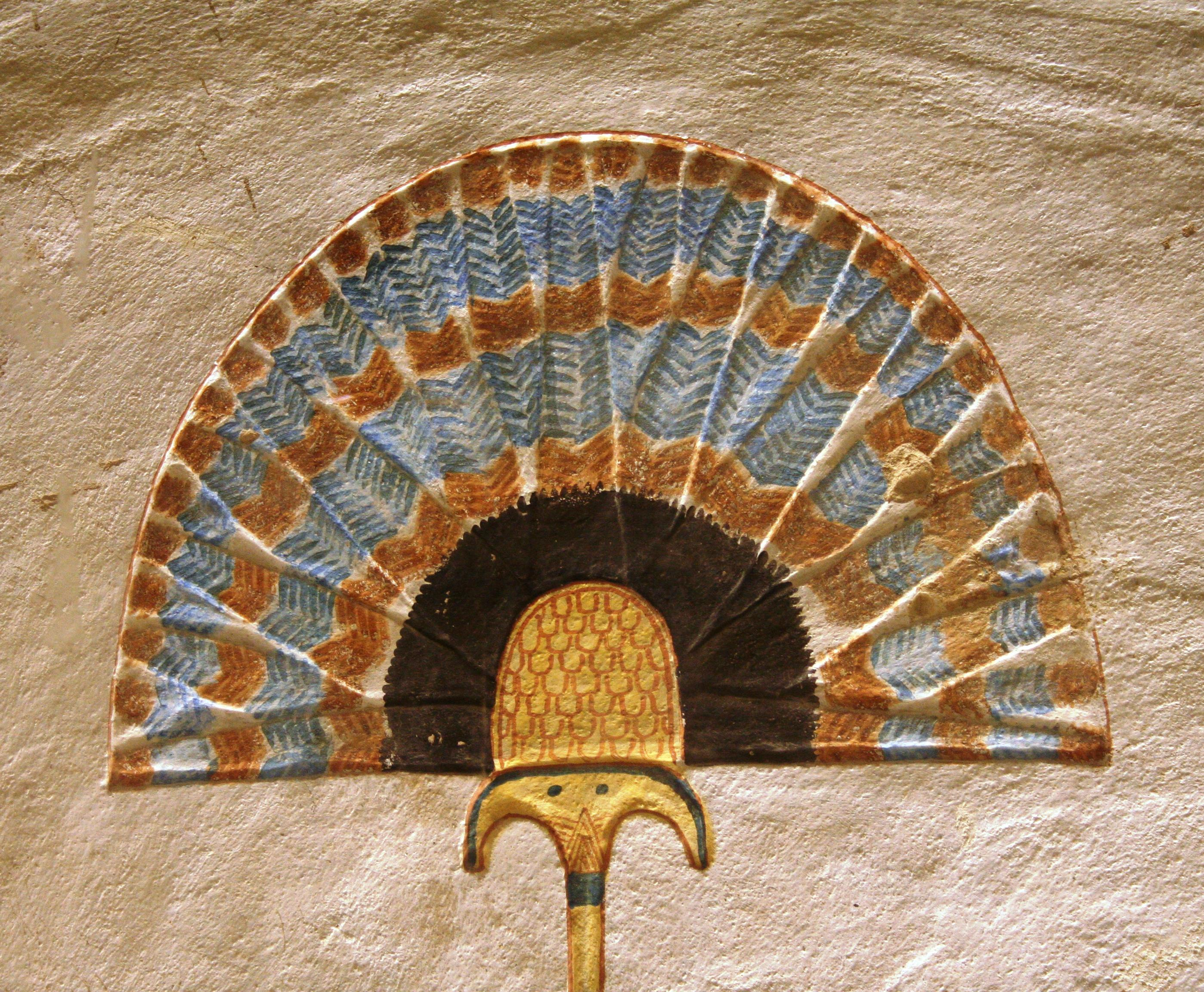 Egyptian art sunshade fan Ramses