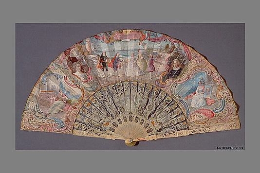 Fan, 18th century, French