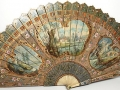 Antique Eighteenth Century French Brisé Fan; Vernis Martin on Ivory