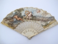 talian fan featuring Apollo and Daphne made between1730-1760