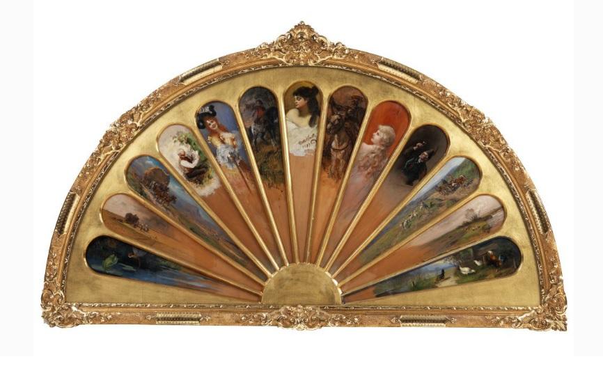 wachlarz1 miniatury malarzy monachijskich ok1890