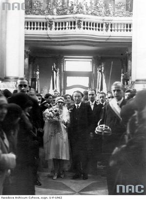 H. Zbierzchowski 1929 slub corki Izabelli isrebrne gody H iIreny Zb.