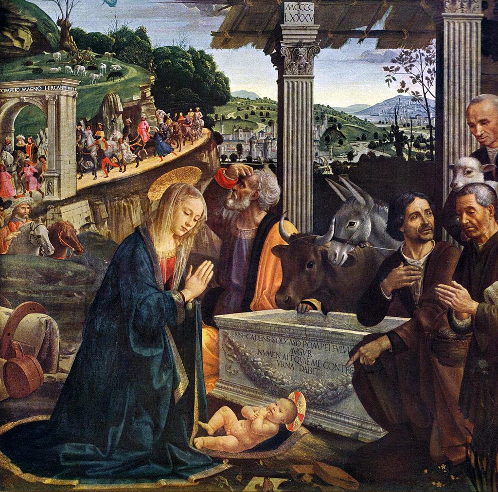 Domenico Ghirlandaio (1449-1494) Adoracja pasterzy